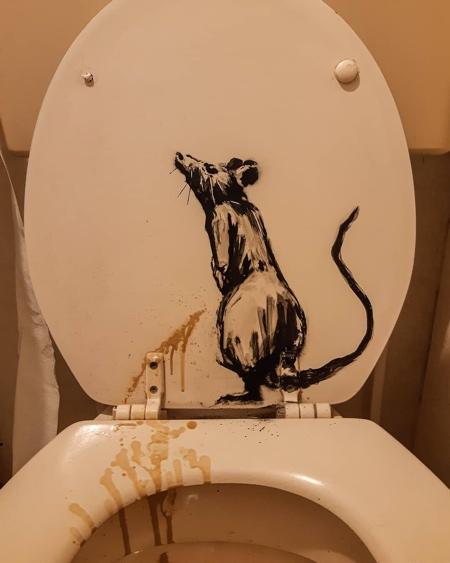 Banksy Toilet