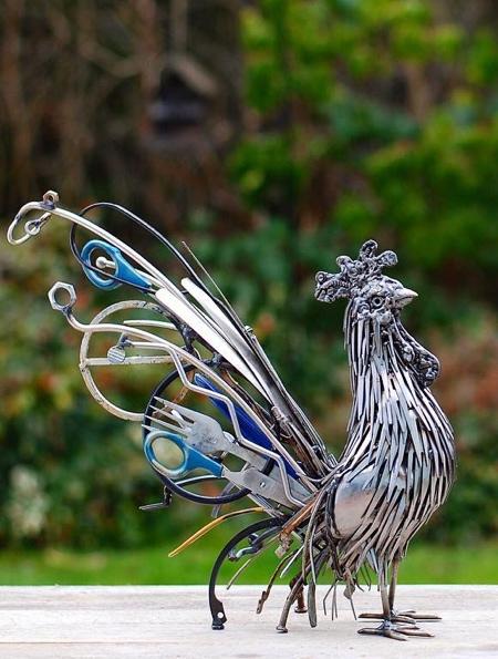 Reclaimed Metal Sculpture