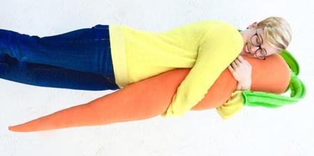 Giant Carrot Pillow