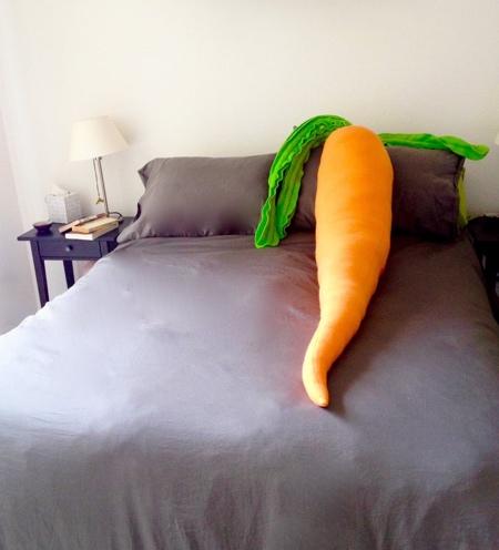 Large Carrot Pillow