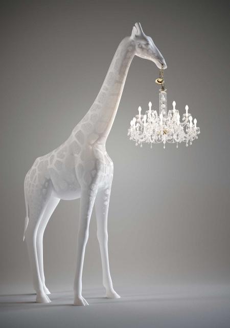Giraffe in Love Chandelier