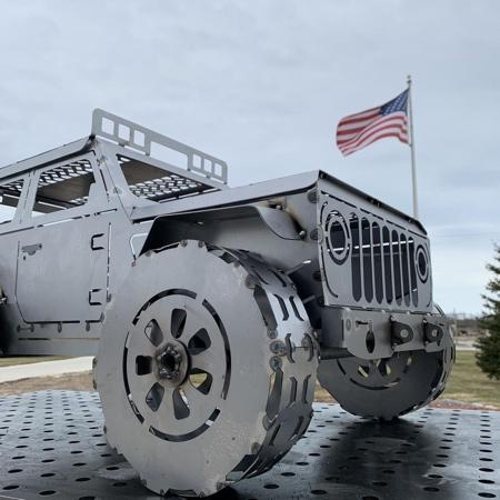 Jeep Wrangler Wood Burner