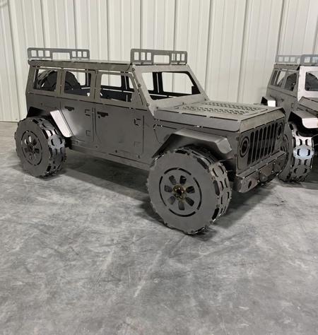 Jeep Wood Burner