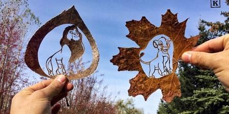 Leaf Art by Kanat Nurtazin