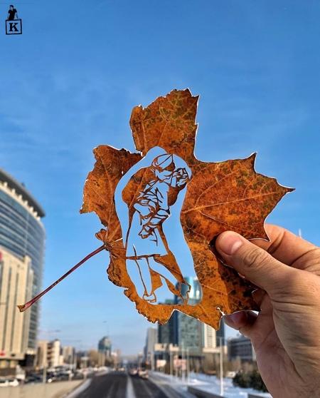Kanat Nurtazin Leaf Art