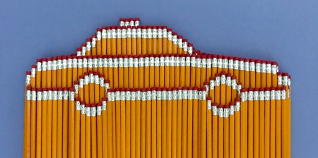 Pencil Stacking Art
