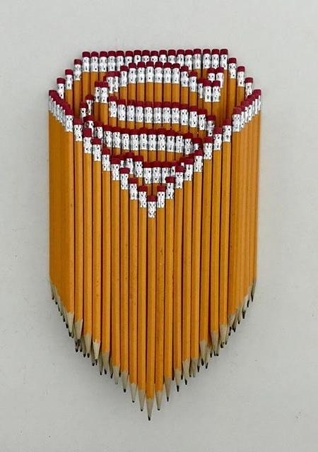 Stacked Pencils Art