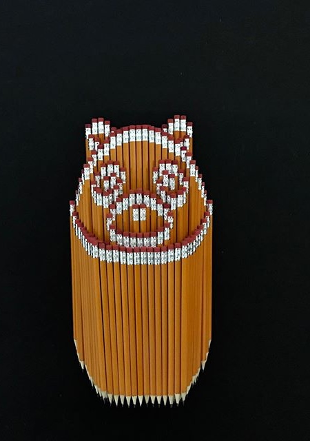 Stacked Pencil Art