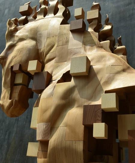 Pixelated Chess Horse