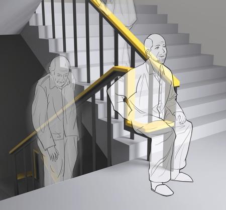 Staircase Handrail Chair