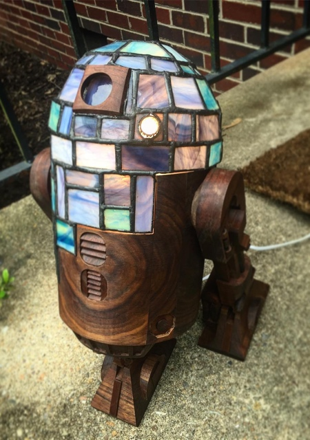 Stain Glass Star Wars Lamp