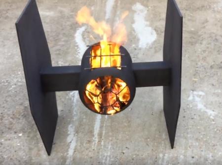 Star Wars TIE Fighter BBQ Fire Pit