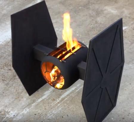 Star Wars TIE Fighter Fire Pit