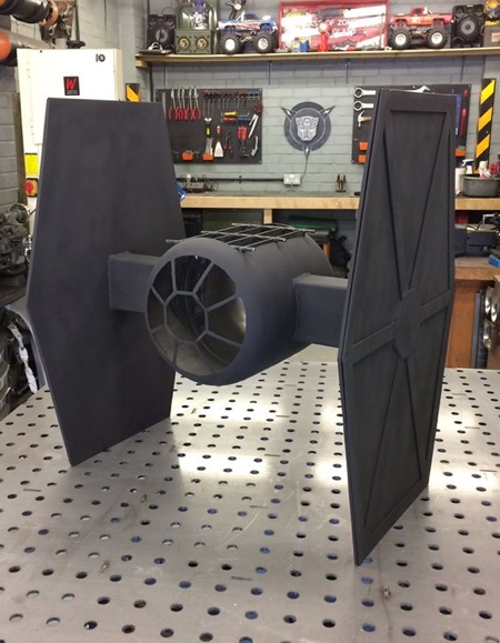 Simon Gould TIE Fighter BBQ Fire Pit
