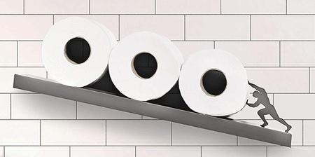 Tilted Toilet Paper Shelf