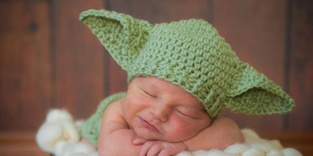 Baby Yoda Baby Hat