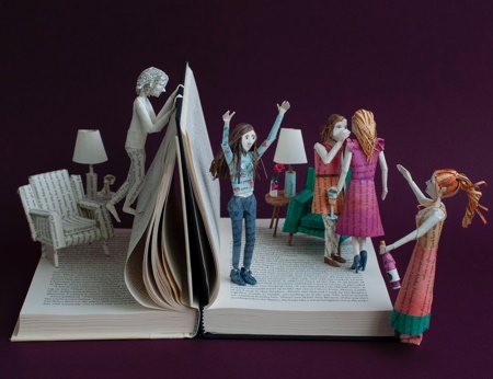 Bethany Bickley Book Page Sculptures