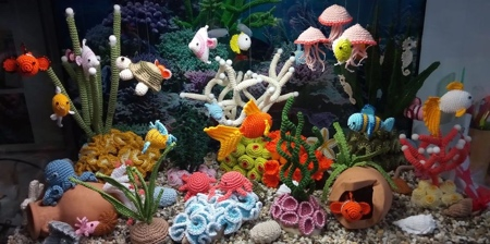 Crocheted Aquarium