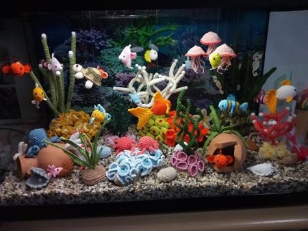 Crocheted Fish Tank
