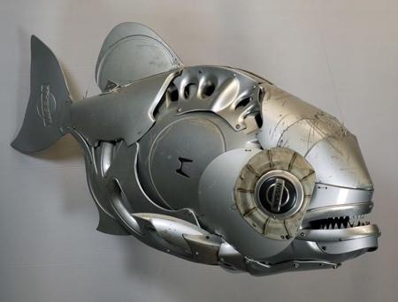 Hubcap Sculptures