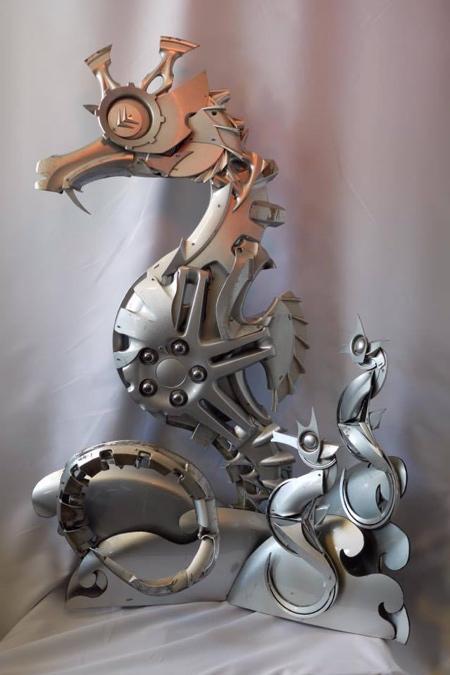 Wheel Cover Sculptures