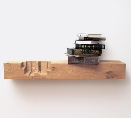 Juxtaposed Bookshelves