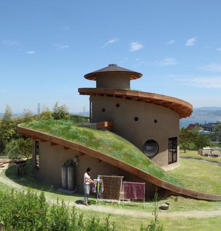 Spiral Roof Garden House