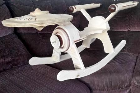 The Starship Enterprise Rocker