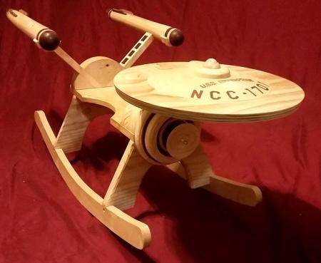 Starship Enterprise Rocker