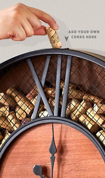 Wine Cork Catcher Clock