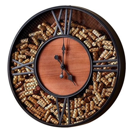 Mesh Cork Catcher Clock
