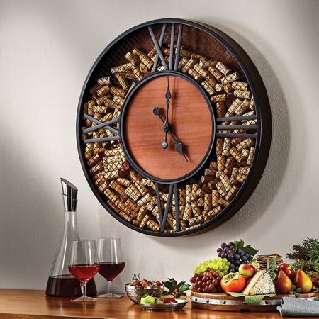 Cork Storage Clock