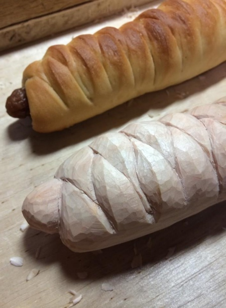 Wooden Food Carvings