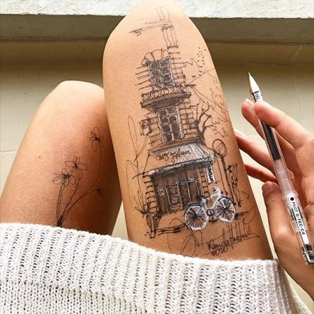 Drawings on Leg