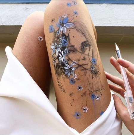 Drawing on Legs