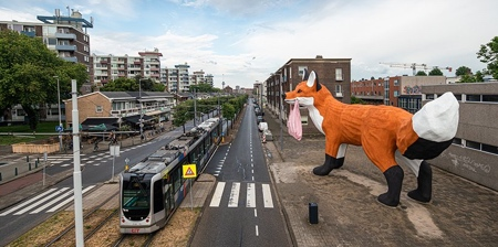 Giant Fox in Rotterdam