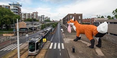 Giant Fox in Rotterdam