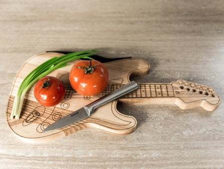 Guitar Shaped Cutting Board
