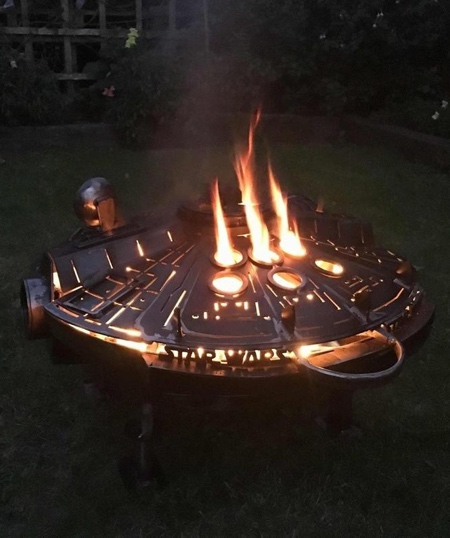 Millennium Falcon Wood Burner