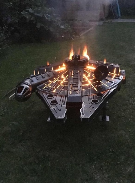BurnedbyDesign Millennium Falcon Fire Pit