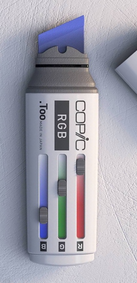 Color Picker Marker Concept