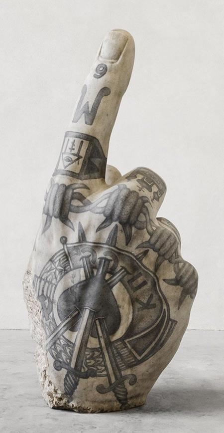 Fabio Viale Tattooed Statues