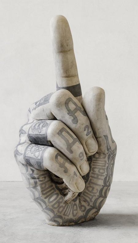 Fabio Viale Tattooed Marble Statues