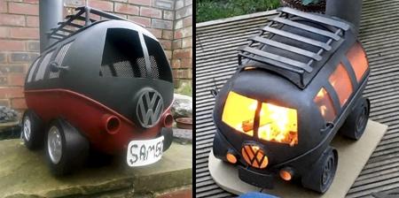 VW Camper Wood Burner