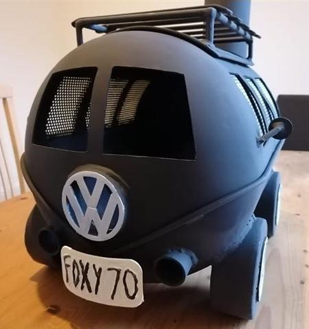 Volkswagen Bus Wood Burner