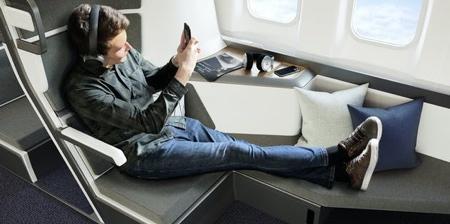 Lie-Flat Economy Airplane Seats