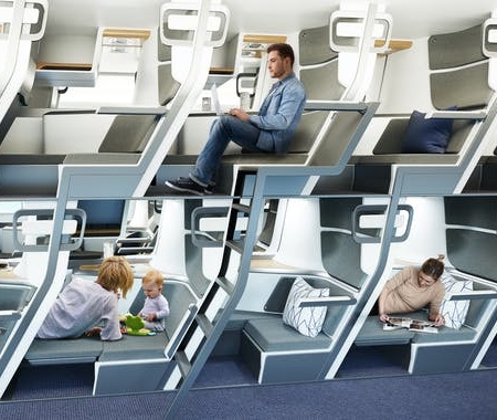 Economy Lie-Flat Airplane Seats
