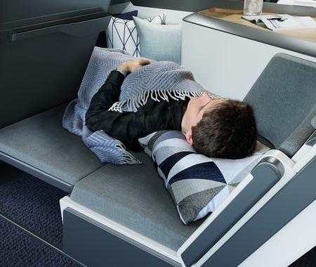 Lie-Flat Airplane Seats