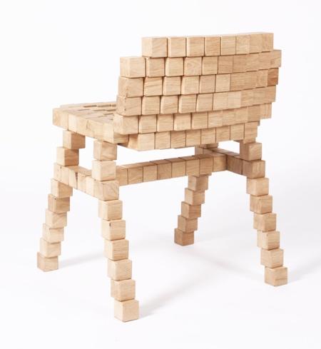 Wooden Blocks Chair