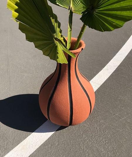 Ceramic Basketball Vase